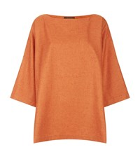 Eskandar Cashmere Silk Button Side Tunic Female Orange