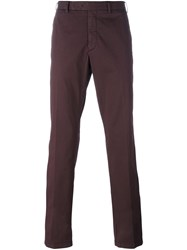 Armani Collezioni Slim Fit Chinos Red