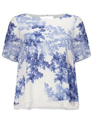 Phase Eight Padua Floral Blouse Ivory Anenome