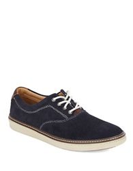 Johnston And Murphy Culling Perforated Suede Sneakers Navy