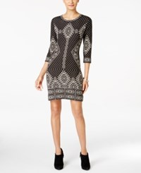 Ny Collection Petite Fair Isle Sweater Dress Rissa