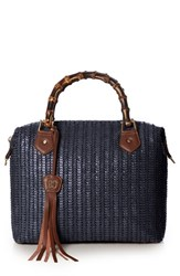 Eric Javits 'Hilsey' Woven Satchel Blue Midnight