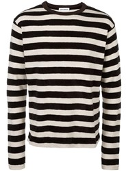 Umit Benan Striped Pullover Black