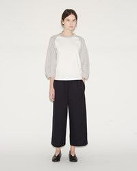 Comme Des Garcons Ester Wool Drawstring Trousers Navy