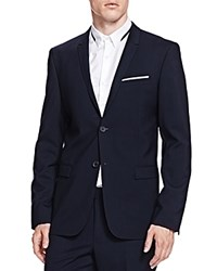 The Kooples Comfort Twist Slim Fit Sport Coat Navy