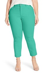 Plus Size Women's Nydj 'Clarissa' Stretch Slim Ankle Jeans Jade Mint