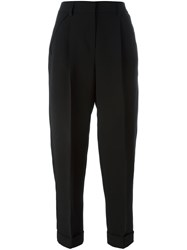 Giorgio Armani Cuffed Cropped Pants Black