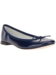Repetto Bow Detail Ballerina Blue