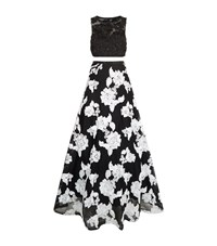 Jovani Floral Embellished Two Piece Gown Female Black