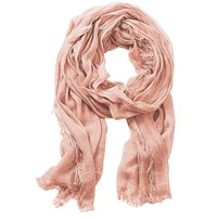 Betty Barclay Long Fringed Scarf Rose Dust