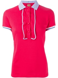 Fay Frill Trim Polo Shirt Red