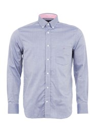 Eden Park Basic Plain Shirt Blue Marl