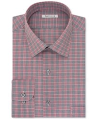 Van Heusen Men's Classic Fit Wrinkle Free Gray Multi Dress Shirt Grey