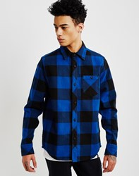 The Hundreds Highland Long Sleeve Flannel Shirt Blue