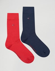Tommy Hilfiger Classic 2 Pack Socks In Multi Multi