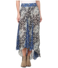 Free People Printed Rayon Gauze Show You Off Skirt Ivory Combo Women's Skirt Multi