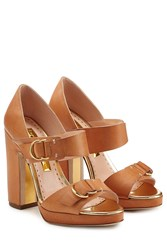 Rupert Sanderson Leather Sandals Brown