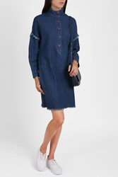 Raquel Allegra Smock Denim Dress Blue