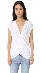Lanston Crossover Surplice Top White