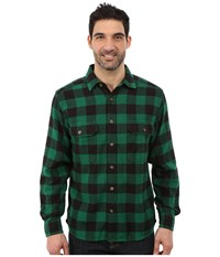 Woolrich Oxbow Bend Flannel Shirt Forest Green Buffalo Men's Clothing Blue