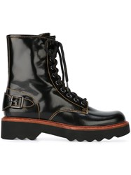 Coach 'Moto Hiker' Boots Black