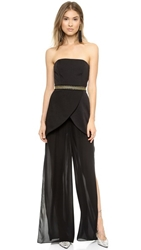 Sass And Bide Give A Cheer Strapless Jumpsuit Black