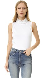 See By Chloe Ruffle Neck Tank White