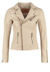 Goosecraft Leather Jacket Cream Beige