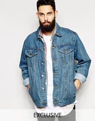 Reclaimed Vintage Oversized Denim Jacket Blue