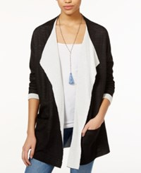 Rachel Rachel Roy Draped Colorblocked Cardigan