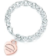 Tiffany And Co. Return To Tiffanytm Heart Tag Bracelet In Rubedo Metal Silver