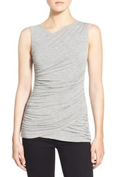 Women's Bailey 44 'Sofia' Ruched Sleeveless Top Heather Grey