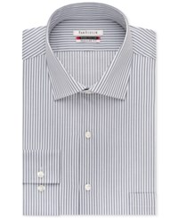 Van Heusen Flex Collar Stripe Dress Shirt Grey