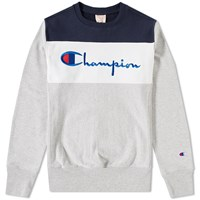 Champion Reverse Weave Block Crew Sweat Multi