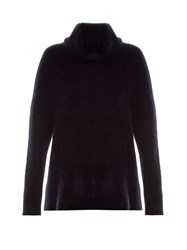 The Row Harlow Roll Neck Sweater Navy