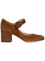Gianvito Rossi Mary Jane Pumps Brown