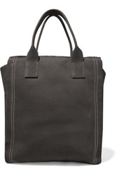Brunello Cucinelli Embellished Nubuck Tote Charcoal