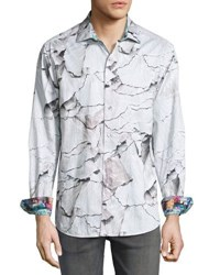 Robert Graham Canyons Woven Button Front Shirt Beige