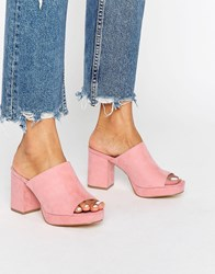 Truffle Collection Platform Mule Dusty Pink