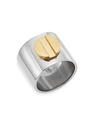 A.L.C. Cigar Band Ring Silver Gold