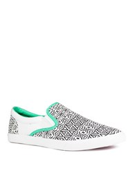Bucketfeet Tribal Inspired Slip On Sneakers White
