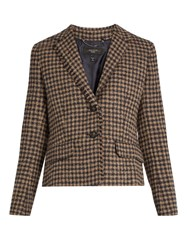 Max Mara Salita Jacket Black Tan