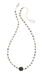 Ela Rae Libi Necklace Iolite Emerald