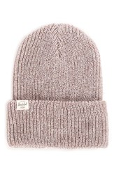 Herschel Men's Supply Co. Quartz Rib Knit Beanie Brown Acrylic Heather Oatmeal