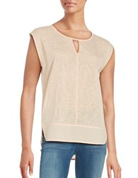 Calvin Klein Jeans Cap Sleeve Pullover Top Oxidized