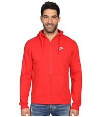 Nike Club Fleece Full Zip Hoodie University Red University Red White Men's Fleece