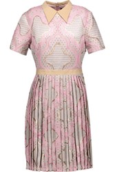 Raoul Amaryllis Cotton Blend Jacquard Mini Dress Baby Pink