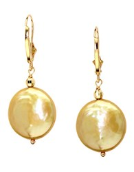 Effy 14Kt. Yellow Gold Freshwater Pearl Coin Earrings