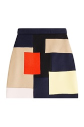 Msgm Wool Mini Skirt Multicolor