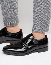 Base London Xxi Nash Leather Monk Shoes Black
